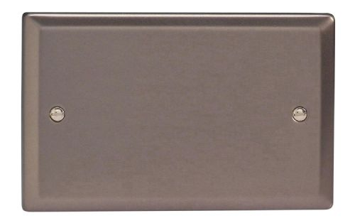Varilight XRDB Classic Pewter 2 Gang Double Blank Plate
